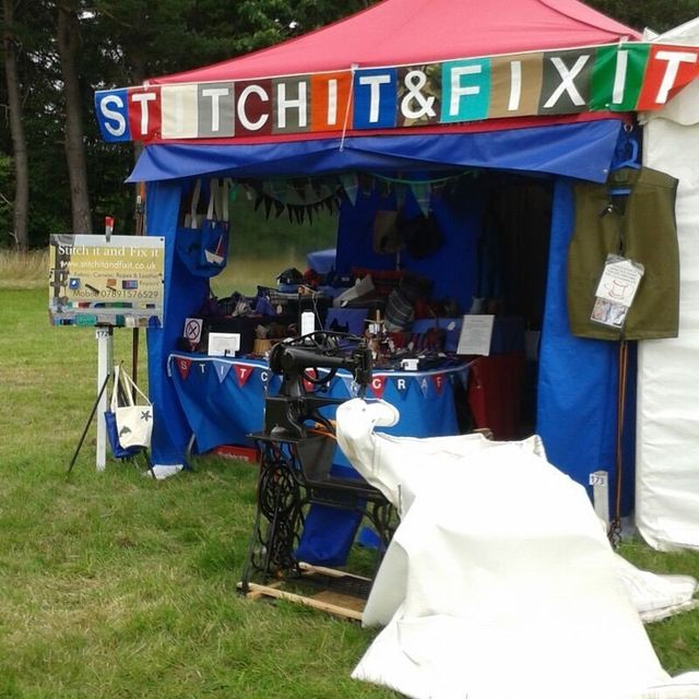 Stitch It and Fix It stall