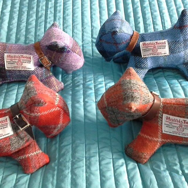 Small Scottie dogs made from tartan fabric