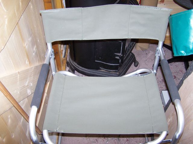 A canvas director style chair