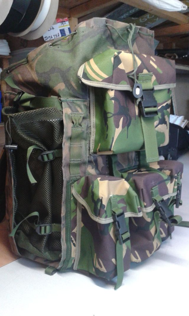 A large military rucksack