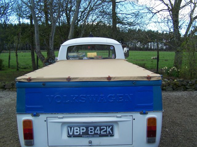 The VW Transporter with protective cover