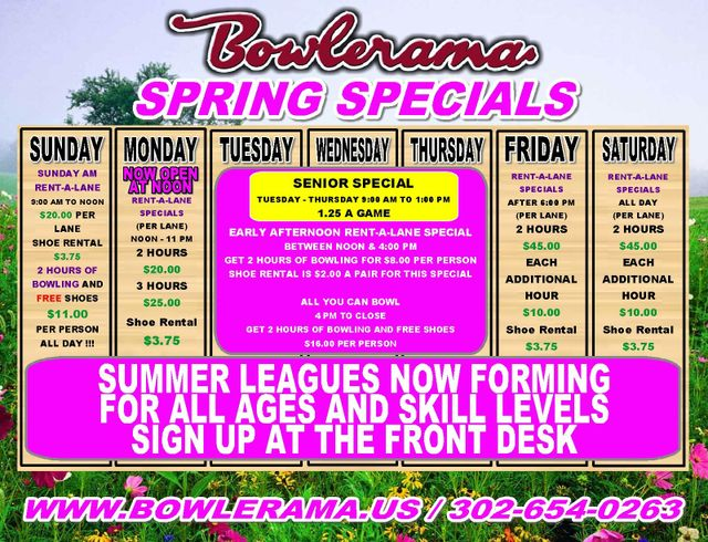 5a8195e620 Bowlerama  More Information   Specials and Pricing