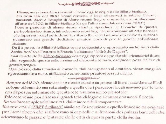 Descrizione dello sfilato siciliano
