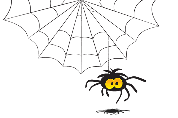 Image result for spider web cartoon png