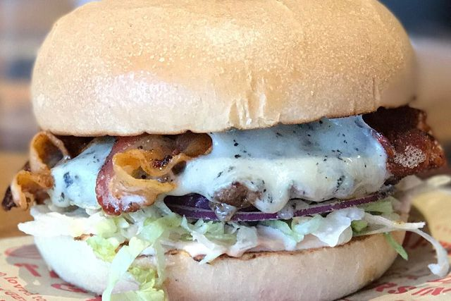 Bacon Gouda Burger of the Month - Georgie Porgies