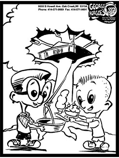 have some fun now with georgie porgie coloring sheets just click print color and bring it in to oak creek or mount pleasant and get it hung up