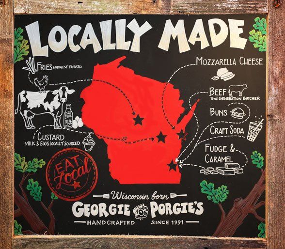 Locally Made in Wisconsin Ingredients - Georgie Porgies