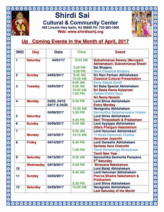 April 2017 Programs
