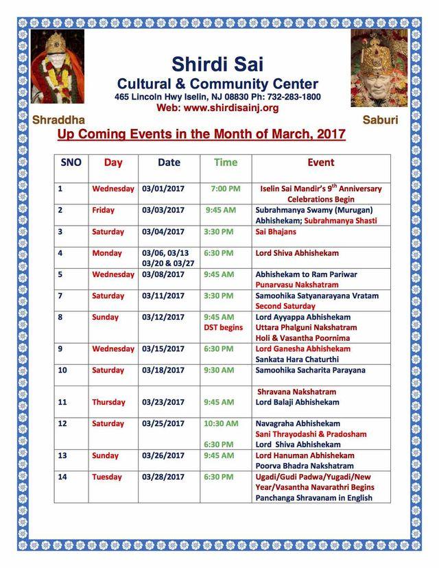 Mar 2017 Programs