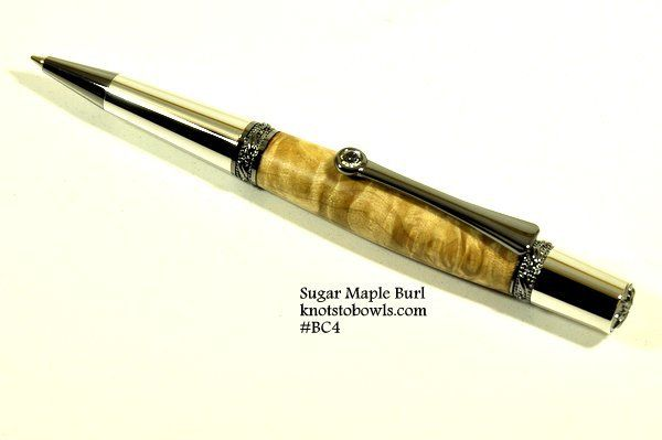 Sugar Maple burl pen made with wood from Ontario.
