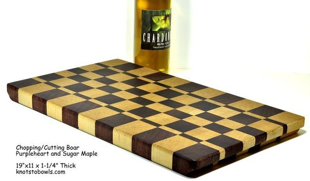 Chopping board - checker pattern