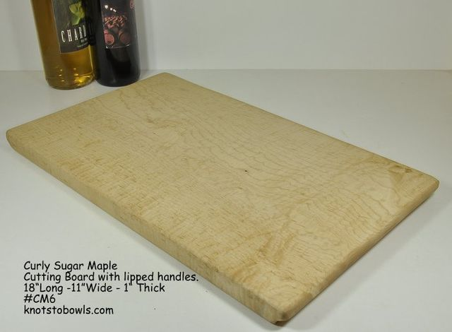 Curly sugar maple cutting board
