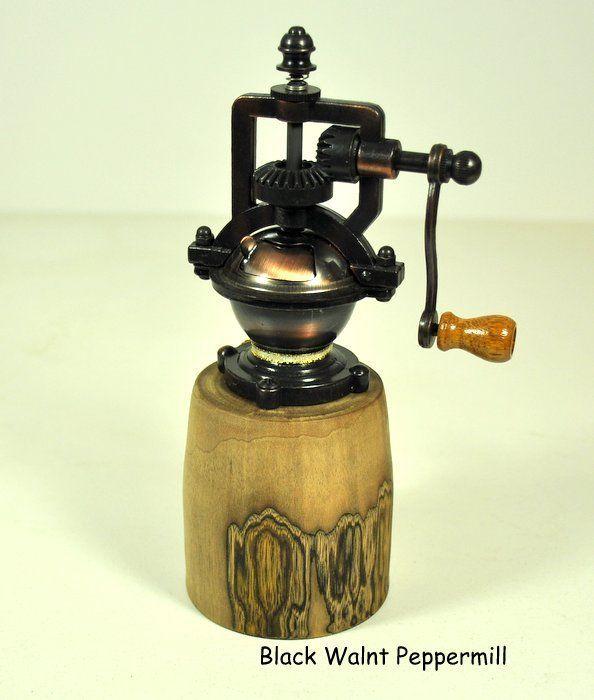 Black Walnut Crank Peppermill