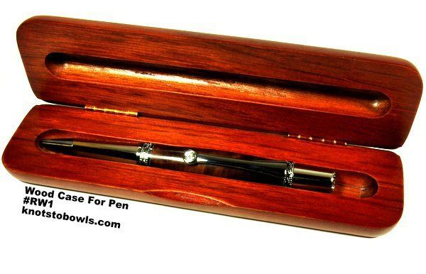 wood case free with Crystal wood burl pen.