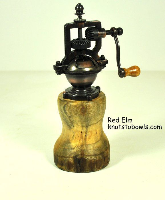 Peppermill made from Red Elm