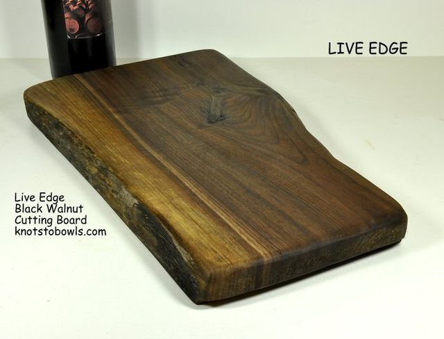 Live edge Black Walnut cutting board - Ontario Wood.