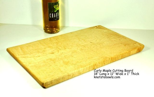 curly maple cutting board