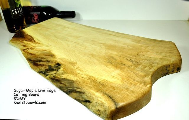 Live edge sugar maple cutting board