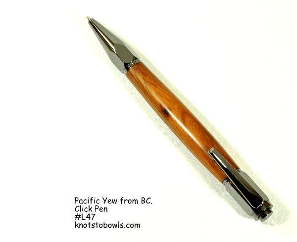 Click style pen from Pacific Yew