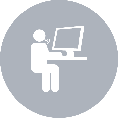 man and computer icon
