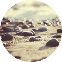pebbles by the sea shore