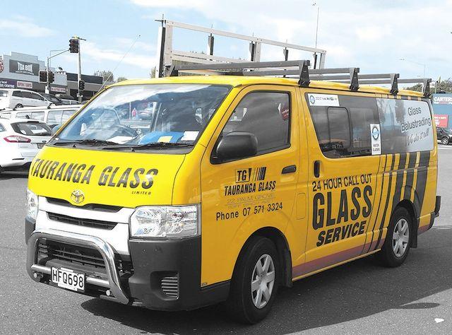 Tauranga Glass vehicle