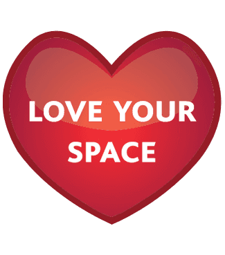 Love your space logo