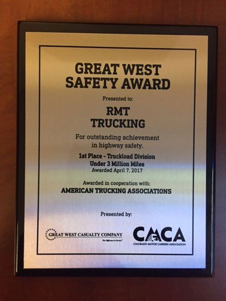 Great West Safety Award