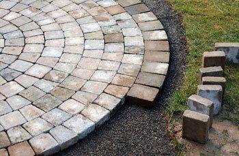 Block-paved patios