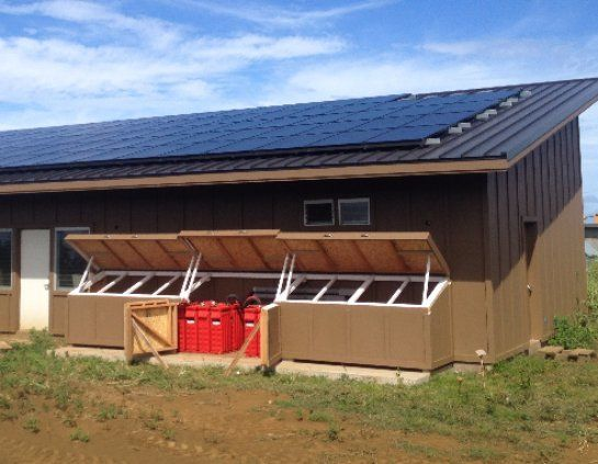 Solar panels installed on roof top in Honokaa, HI
