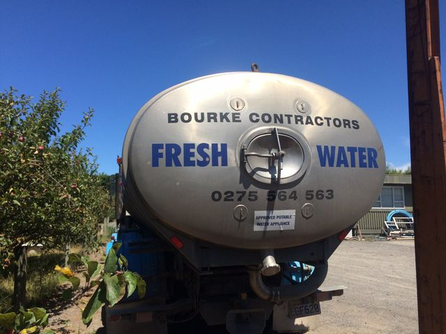 View of the fresh drinking water truck