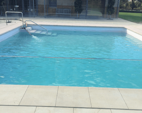 View of the pool after quality servicing