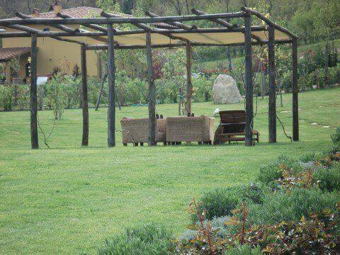 divani da esterno in giardino