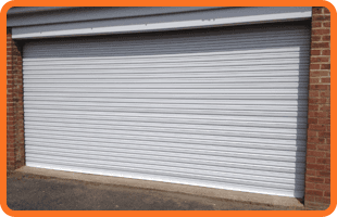 Steel shutters for a commercial building