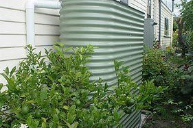 green slimline tank