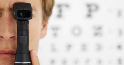 Eye checkup in progress