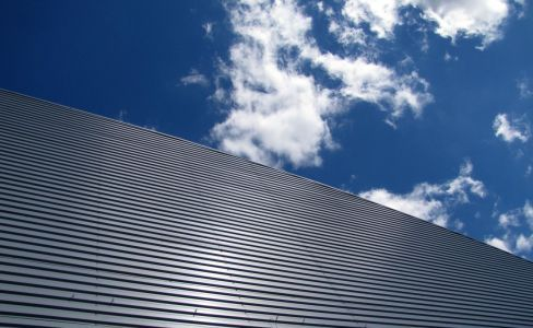 One of our commercial metal roofing jobs in Toccoa, GA