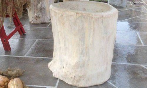 un tronco di legno chiaro