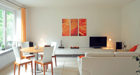 Living and dining set-up