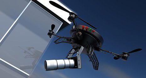 Un drone per lo spionaggio a Roma