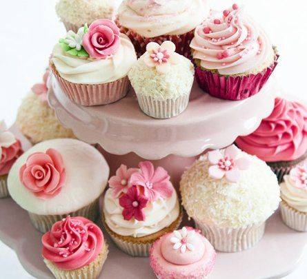 Red and pink themed cupcake