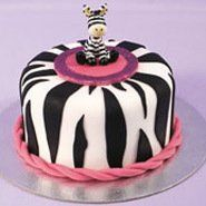Zebra themed cake