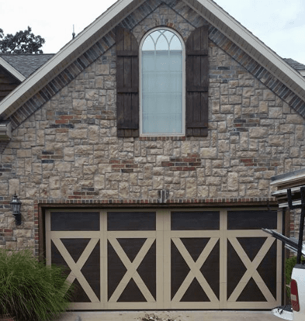 Double garage doors at a residential property
