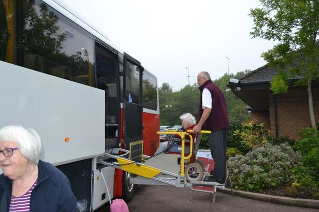 Bus for disabled individuals