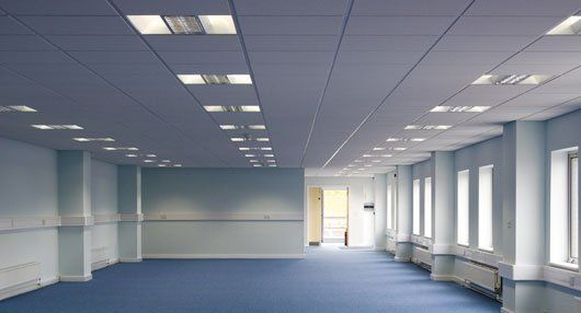 commercial space suspended ceilings
