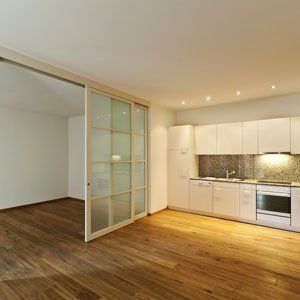 glass and frame partition