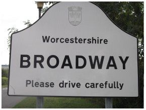 A sign that says 'Broadway'