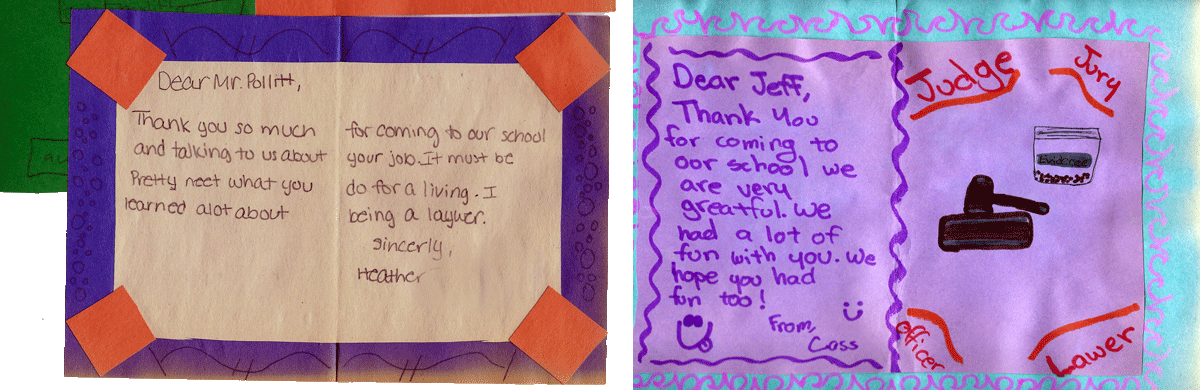 Letters from Sixth Graders
