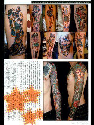 Tattoo Burst magazine, featuring Lucky