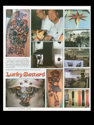 Crave Magazine, featuring Lucky Bastard